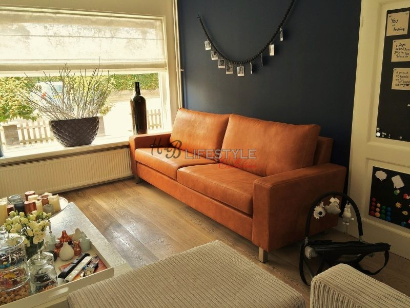 Cognac bank hb lifestyle collection for Cognac kleur combineren interieur