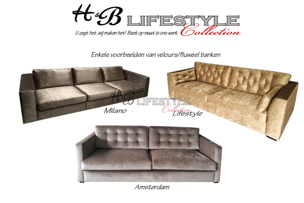 Glansstof bank hb lifestyle collection for Velours bank