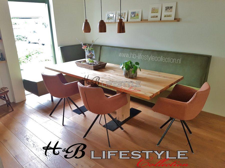 Eetkamer hoekbank op maat hb lifestyle collection - Eigentijds eetkamer model ...