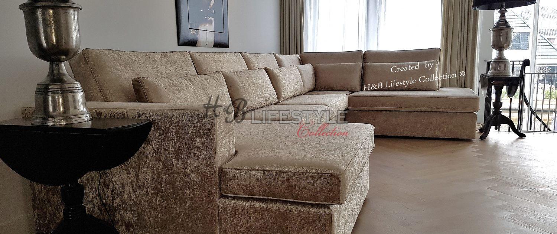 Luxueuze grote hoekbanken in eric kuster style for Woonkamer style