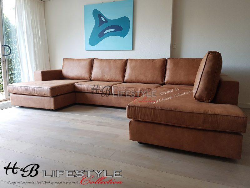Cognac Leren U Bank.U Bank Kopen Longchair Bank Op Maat Model Milano Kleur
