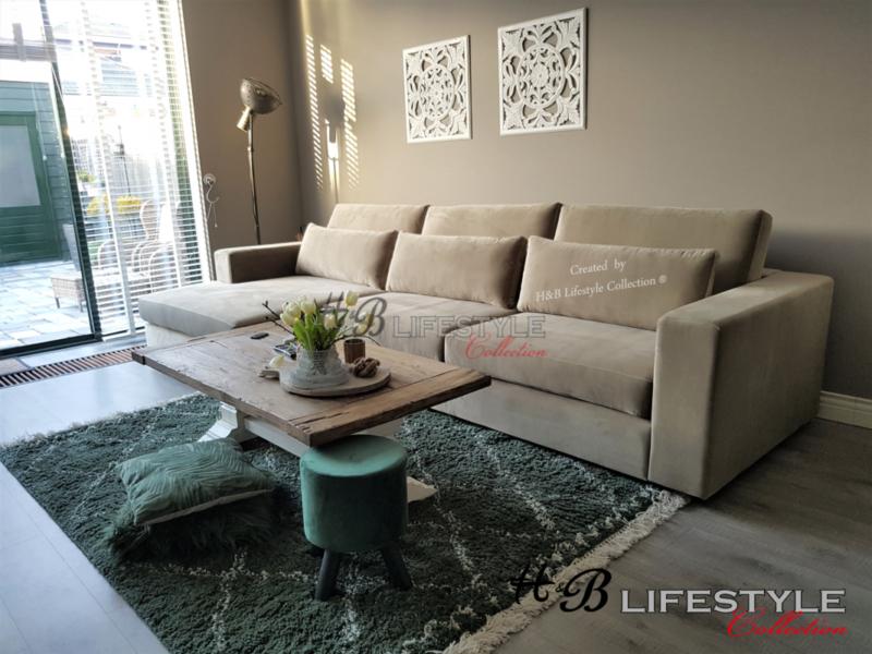 Luxe Lounge Bankstellen.Luxe Velours Bank Met Lounge Gemaakt Model Milano Licht