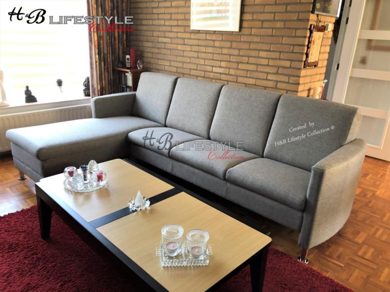 Moderne Strakke Design Bank.Strakke Moderne Lounge Banken Model Koraal 3 Zit Met Longchair